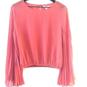 Ya Los Angeles Coral Accordian Sleeve Top